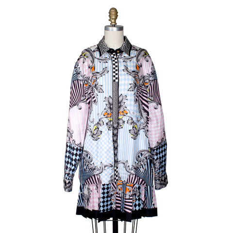 Versace Silk Printed Shirt/Skirt Set
