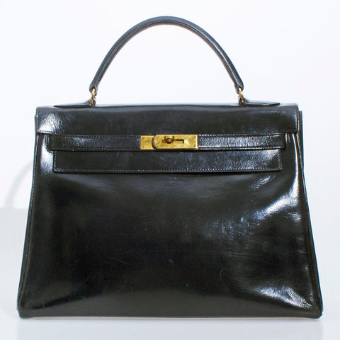 Vintage Hermes Box Kelly 32cm, 1977