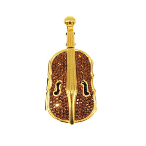 Violin Crystal Pill Box