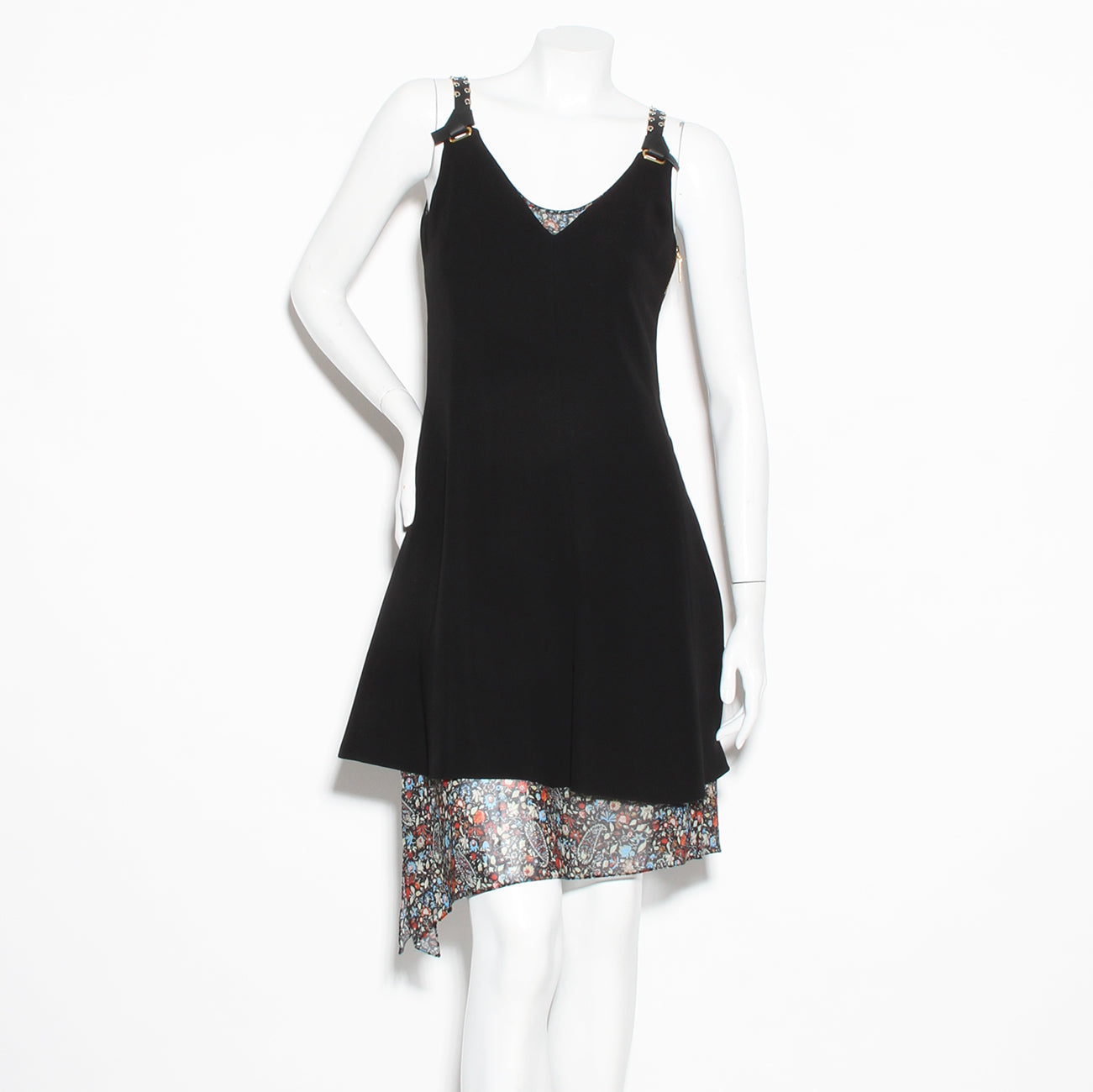 LV Leather Strap Floral Dress