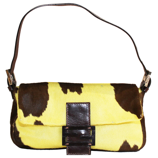 Fendi Cowhide Baguette Bag