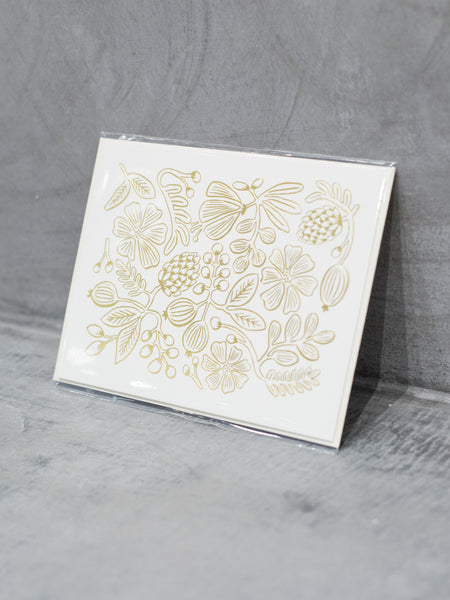 Gold Botanical Card, Accessories, Rifle Paper Co. - Melloré