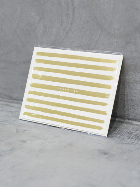 Gold Stripes Thank You Card, Accessories, Rifle Paper Co. - Melloré
