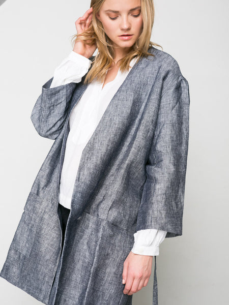 Linen Coat, Clothing, ALI GOLDEN - Melloré