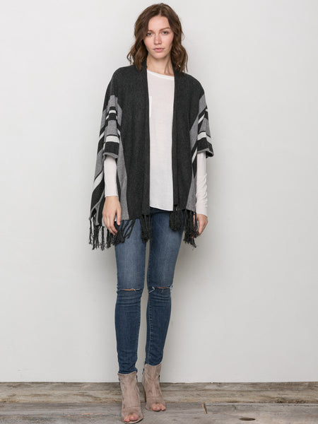 Feline Fringe Poncho, Clothing, VELVET BY GRAHAM & SPENCER - Melloré