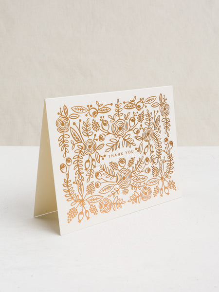 Rose Gold Thank You Card, Accessories, Rifle Paper Co. - Melloré