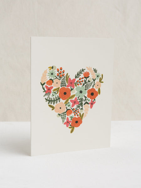 Floral Heart Card, Accessories, Rifle Paper Co. - Melloré