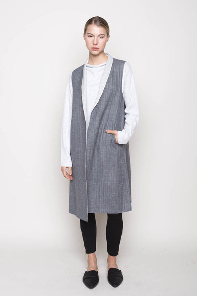 Double Cloth Vest, Clothing, BERTI - Melloré