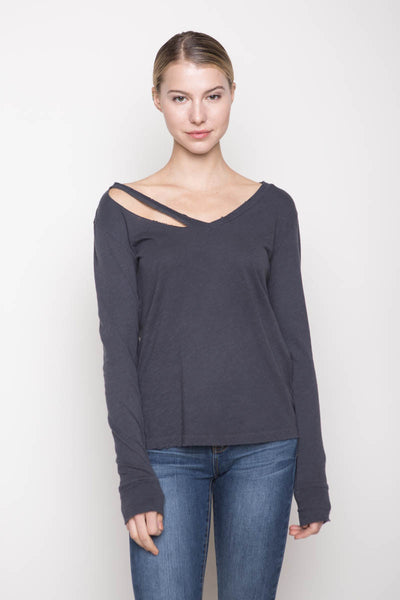 Long Sleeve Fallon V-Neck, Clothing, LnA - Melloré