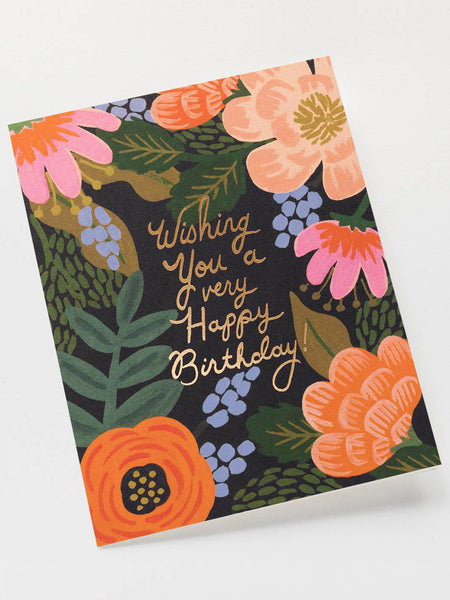 Bordeaux Birthday Card, Accessories, Rifle Paper Co. - Melloré
