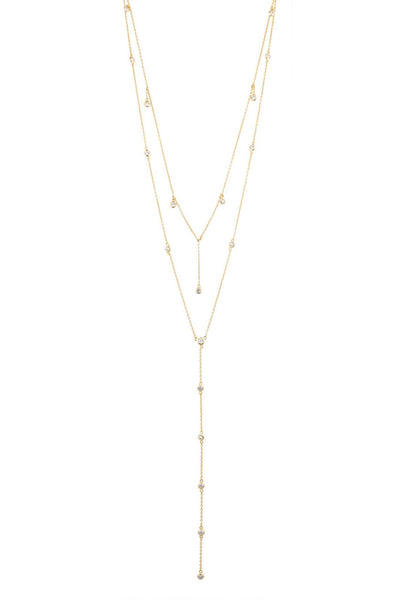 Diamond Dangle Lariat Necklace