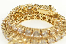 "Load image into Gallery viewer, 14K Classic Cubic Zirconia Encrusted Tennis Bracelet 7"" Yellow Gold"