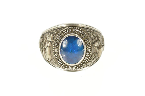10K 1969 Pennsylvania State University Class Ring Size 12.75 White Gold