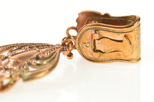 Ornate Scrollwork Chain Elaborate Watch Fob