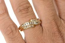 Load image into Gallery viewer, 14K 0.63 Ctw Wavy Diamond Channel Men's Band Ring Size 11 Yellow Gold