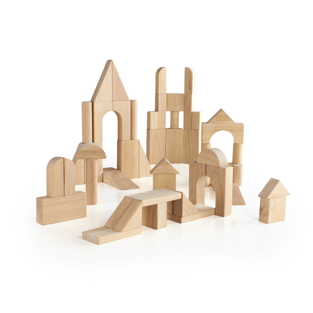 Deluxe Hardwood Unit Block Set - 76 piece - Beguiled Child  - 1