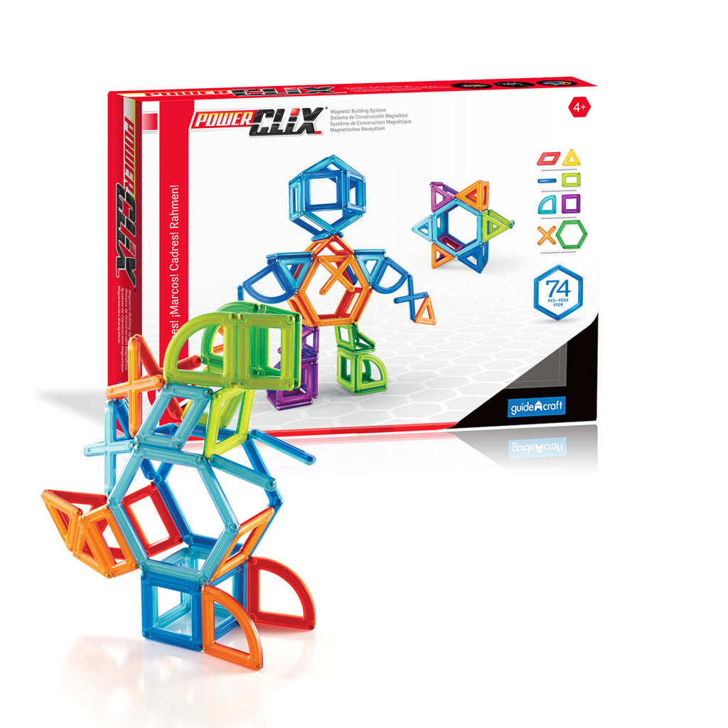 PowerClix Frames - 74 Piece Magnetic Construction Set - Beguiled Child  - 1