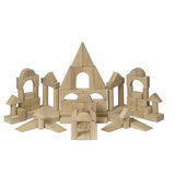 Deluxe Hardwood Unit Block Set - 76 piece - Beguiled Child  - 2