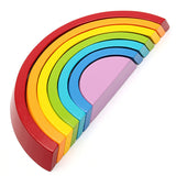 Colorful Wooden Stacking Rainbow Children Kids Educational Play Toy