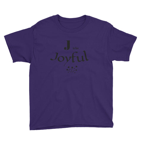 J is for Joyful Youth Short Sleeve T-Shirt