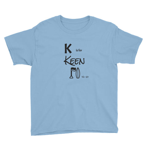 K is for Keen Youth Short Sleeve T-Shirt