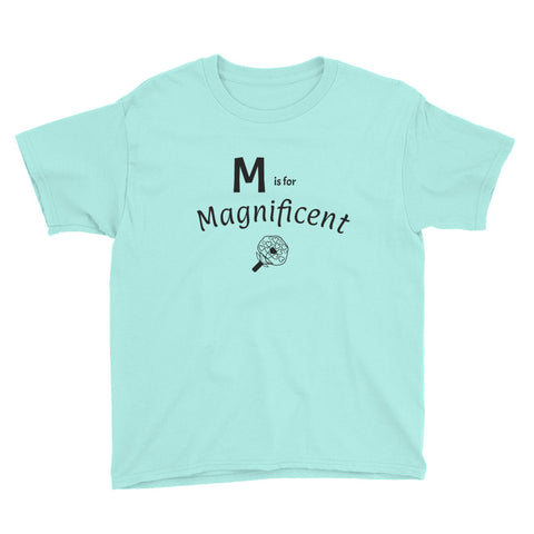 M is for Magnificent Youth Short Sleeve T-Shirt