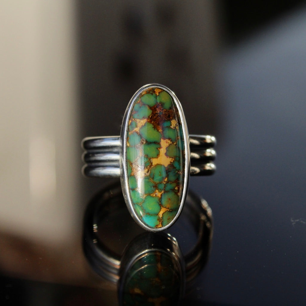 Molly Ring - Kingman Turquoise (Size 6 1/2)