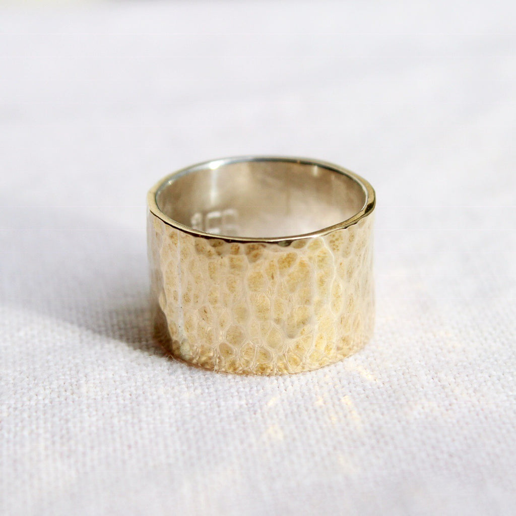 Havana Affair Ring - Brass Hammered Cigar Band