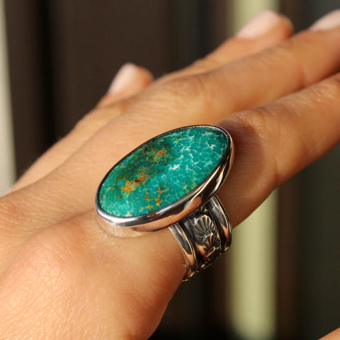 Agave Ring - Kingman Turquoise (size 8)