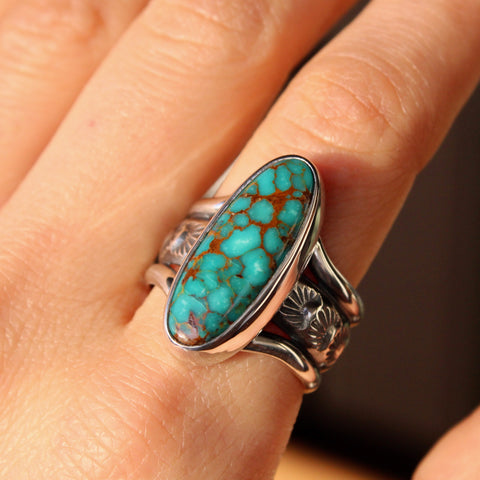 Agave Ring - Kingman Turquoise (size 9)