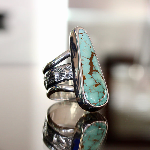 Agave Ring - Royston Turquoise (size 7 1/2)