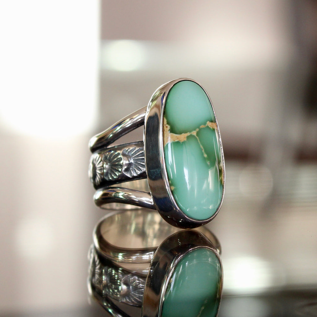 Agave Ring - Royston Turquoise (size 8 1/2)