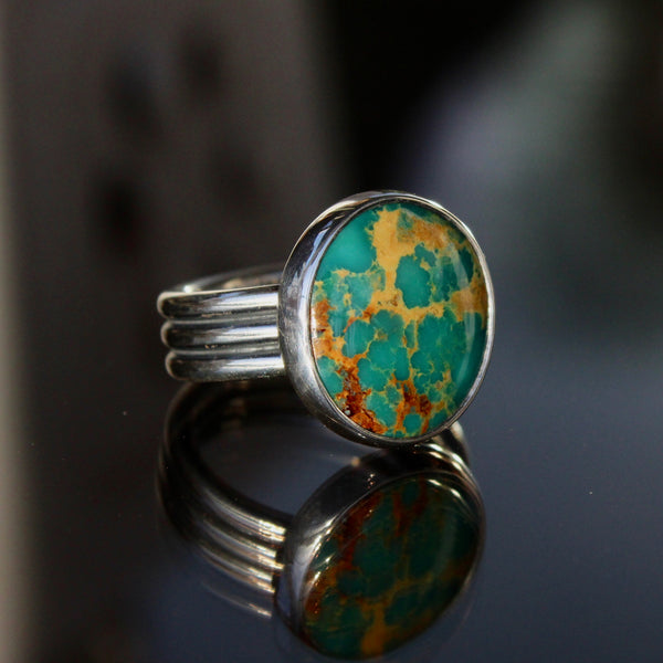 Molly Ring - Kingman Turquoise (Size 7)