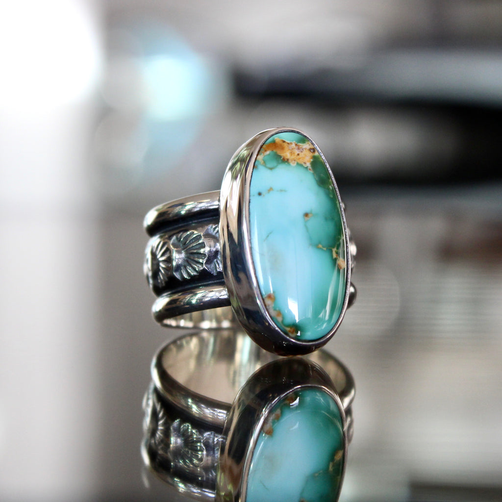 Agave Ring - Royston Turquoise (size 7)