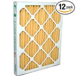 "18 x 24 x 2"" MERV 11 Pleated Furnace Filters - 12 Pack"