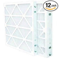 "16"" x 25"" x 1"" MERV 8 Pleated Filters - 12 Pack"