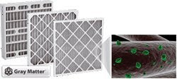 "25 x 25 x1"" Odor Ban Carbon Pleated Furnace Filter - 12 pack"