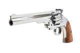 Bear River Schofield No. 3 Revolver - .177 CO2 Full Metal Airgun Pistol - Chrome Finish