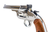 Barra Airguns Schofield No. 3 Revolver - .177 CO2 Full Metal Airgun Pistol - Chrome Finish