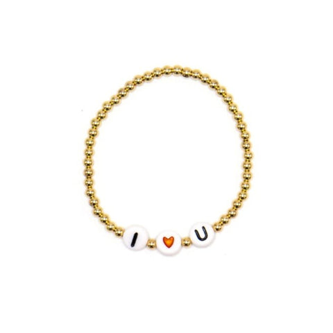 Child Name Bracelet, 14k Yellow Gold Filled