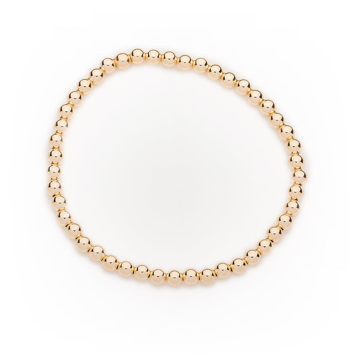 Classic Bracelet 14k Yellow Gold Filled 4mm Beads