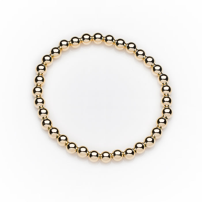 Classic Bracelet in 14k Yellow Gold Filled 5mm Beads