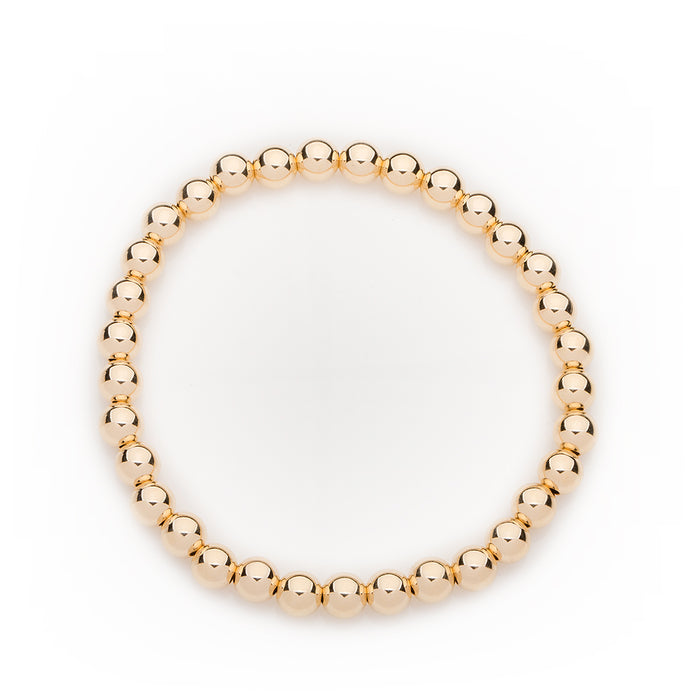 Classic Bracelet in 14k Yellow Gold Filled 6mm Beads