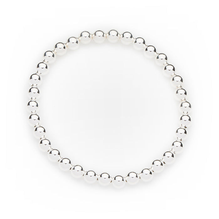 Classic Bracelet in Sterling Silver 6mm Beads