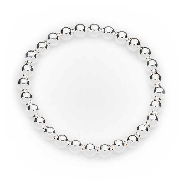 Classic Bracelet in Sterling Silver 8mm Beads