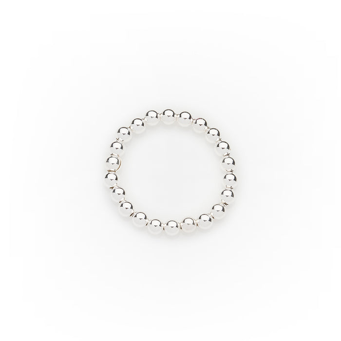 Classic Ring in Sterling Silver 3mm Beads