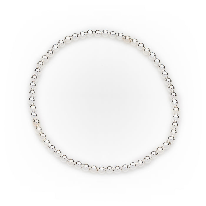 Classic Bracelet in Sterling Silver 3mm Beads