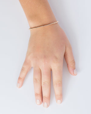 Classic Bracelet, 14k Rose Gold Filled, 3mm Beads