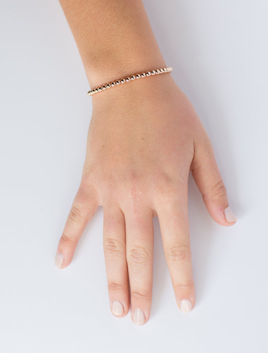 Classic Bracelet in 14k Rose Gold Filled 4mm Beads