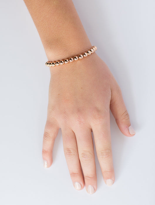 Classic Bracelet in 14k Rose Gold Filled 8mm Beads